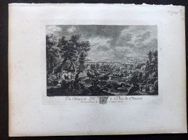 After Rubens C1820 Antique Print. Town/Landscape View